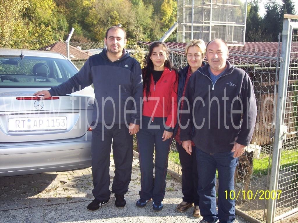 Besuch aus Bulgarien 09.10.2007 - Ahmed Mehmed mit Freundin Milena