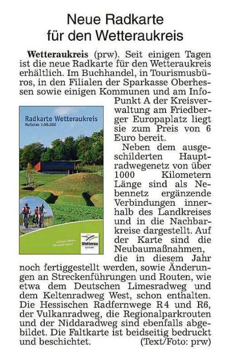 Wetterauer Zeitung vom 1.2.2018