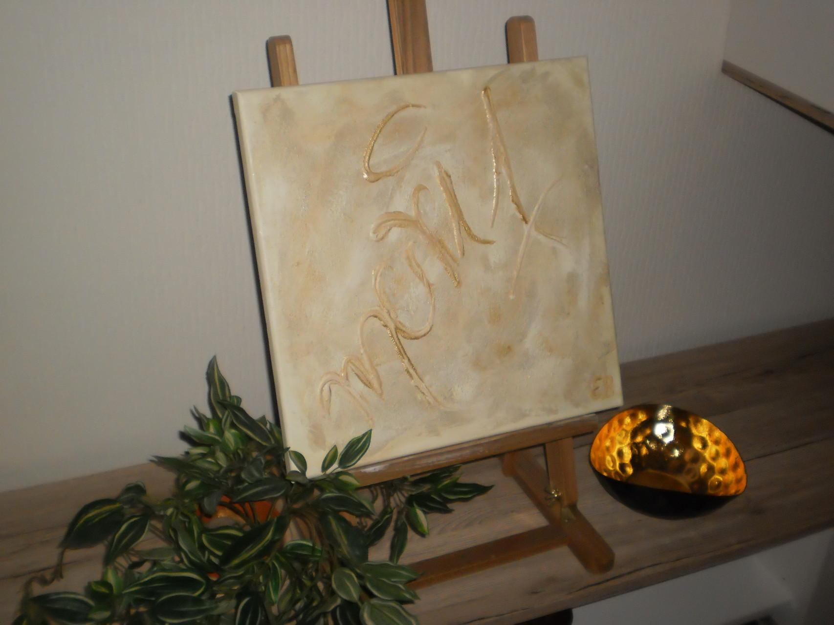 Marit (zur Geburt meiner Enkeltochter) - 40 x 40 cm - Acryl - unverkäuflich