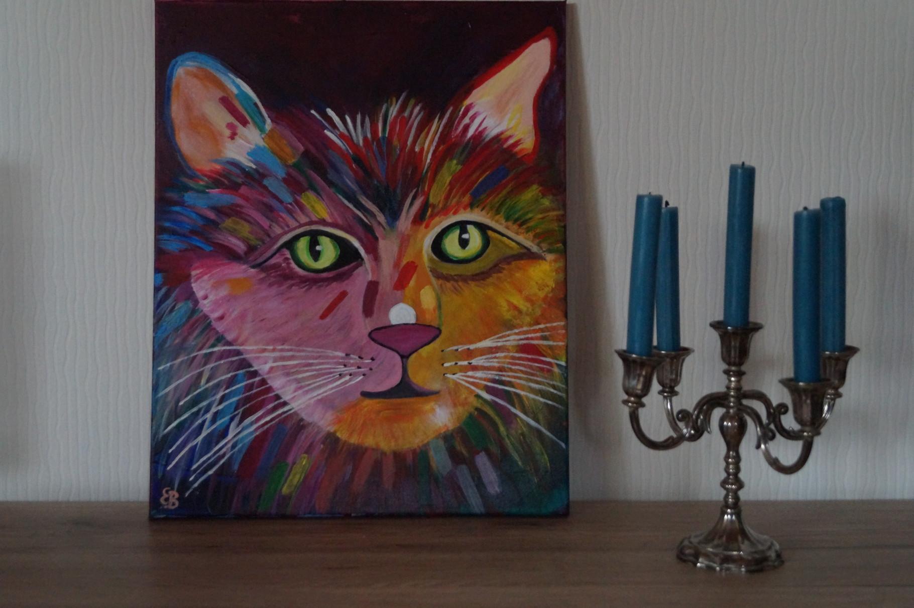 Katze - 50 x 40 cm - Acryl