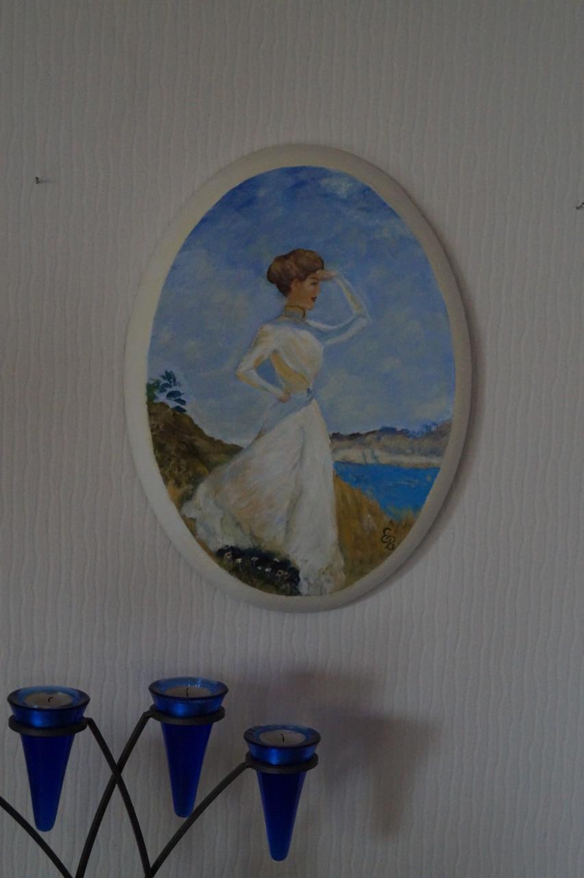 Frau am Strand - 30 x 38 cm - Acryl