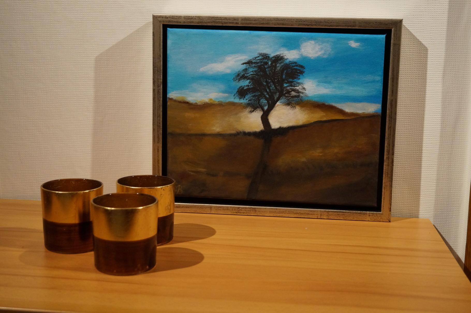 Afrika im Morgenlicht - 34 x 28 cm incl. Rahmen - Acryl