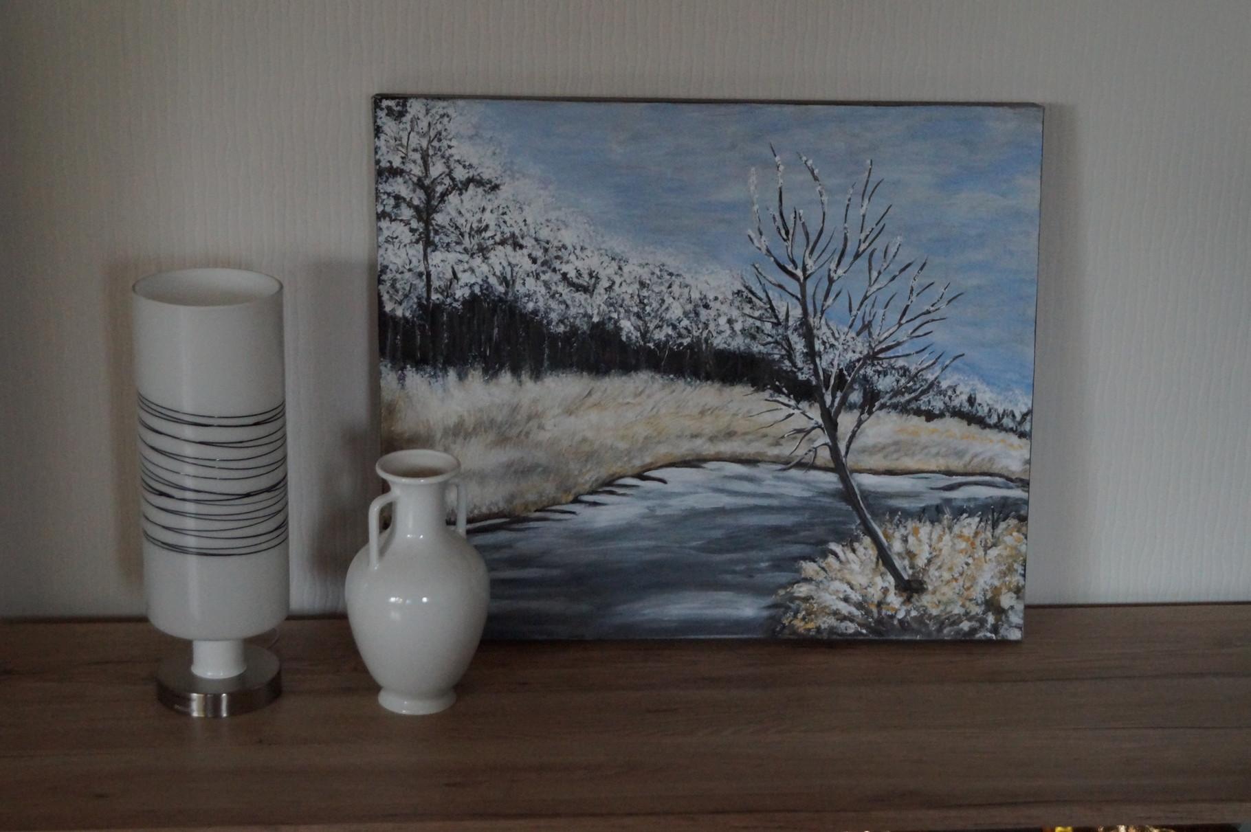 Winterbild - 60 x 50 cm - Acryl