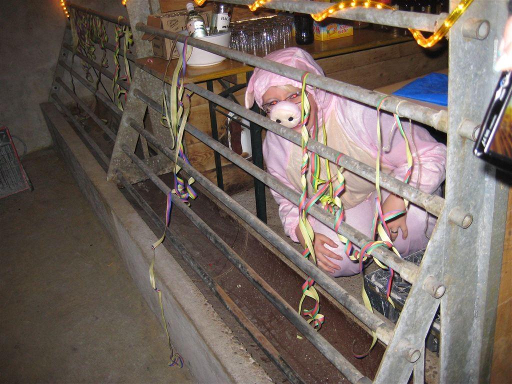 Nein, das ist nicht das schlachtreife Schwein für Dienstag!