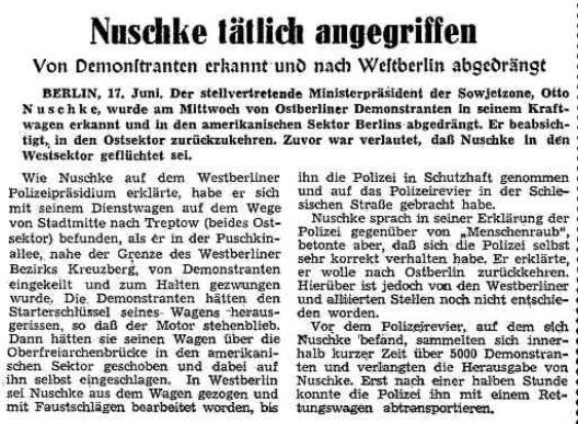 Otto Nuschke entführt. (17.06.1953)