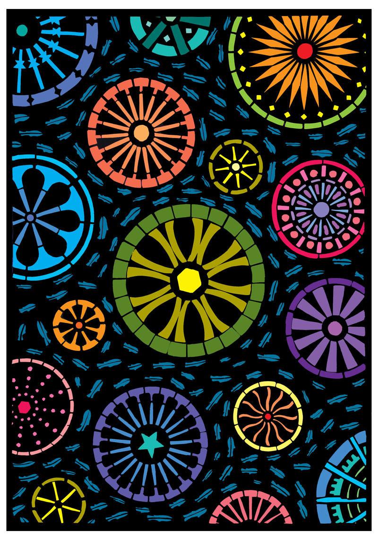 "Blue Fish 2013     Giclee print    Image size 13.5"" x 10.5"""