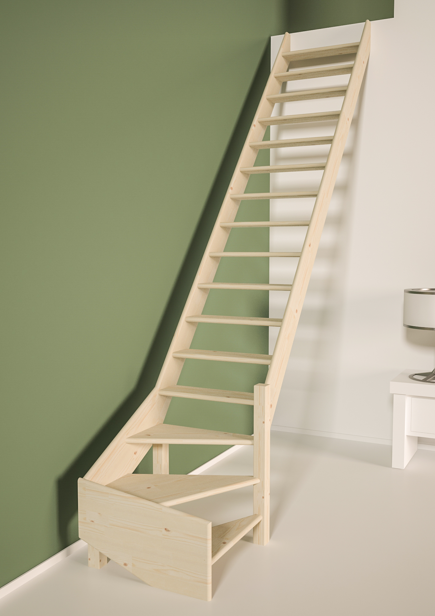 Cottage MEDIUM escalier 1/4 tournant