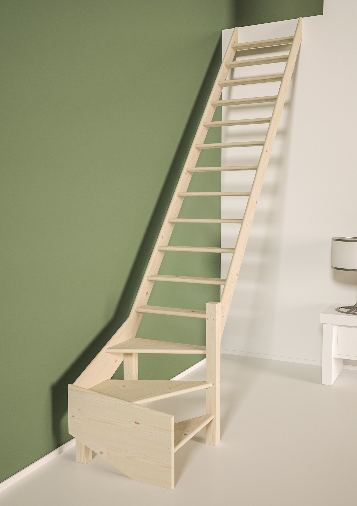 Cottage JUNIOR escalier 1/4 tournant