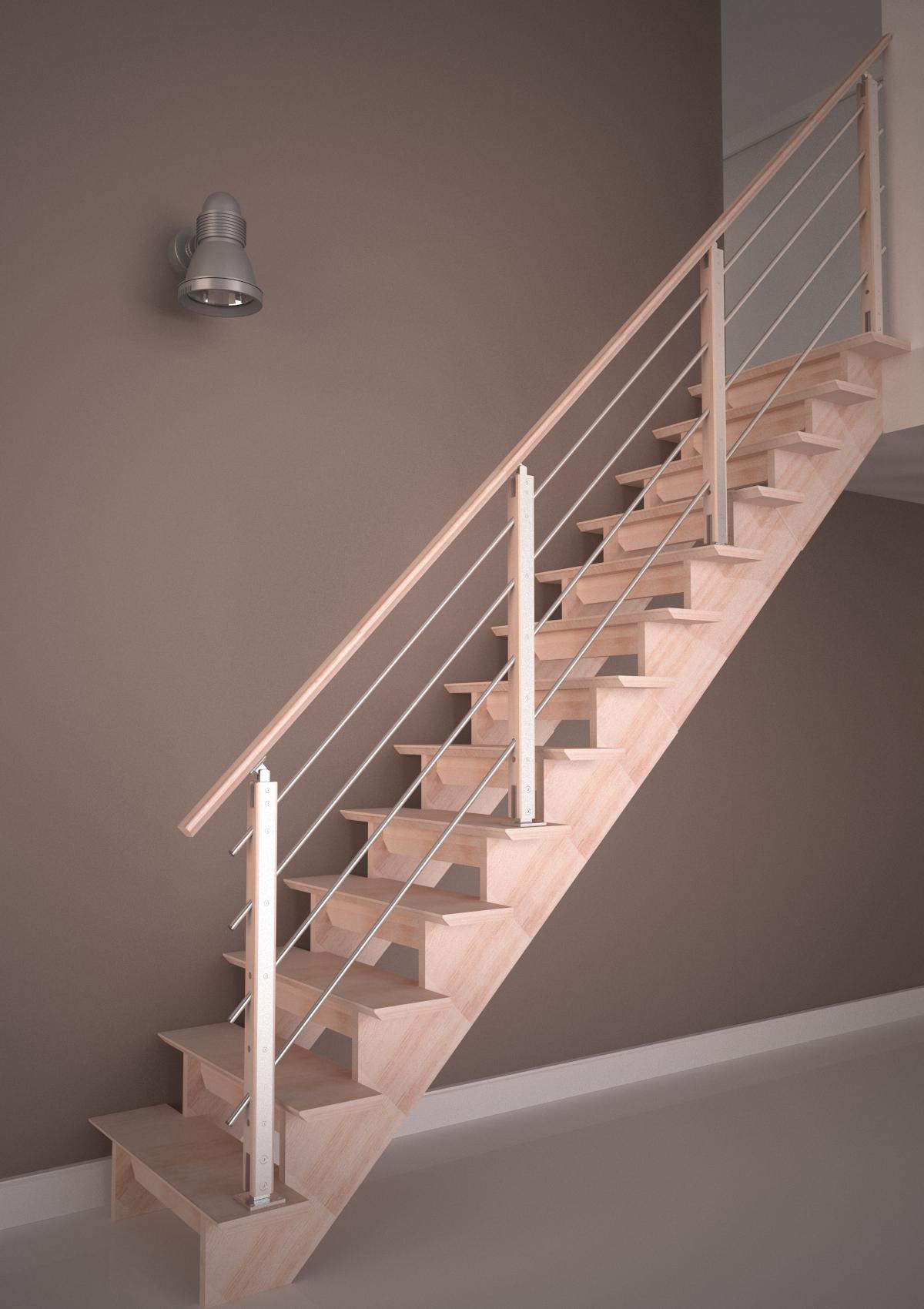 Auvergne escalier droit rampe H