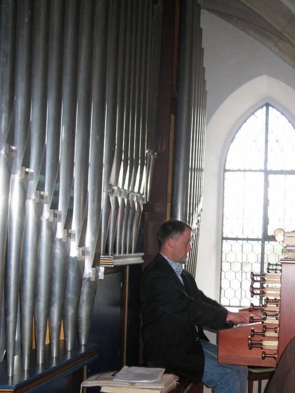 Andi sorgt für klingende Orgeltöne!