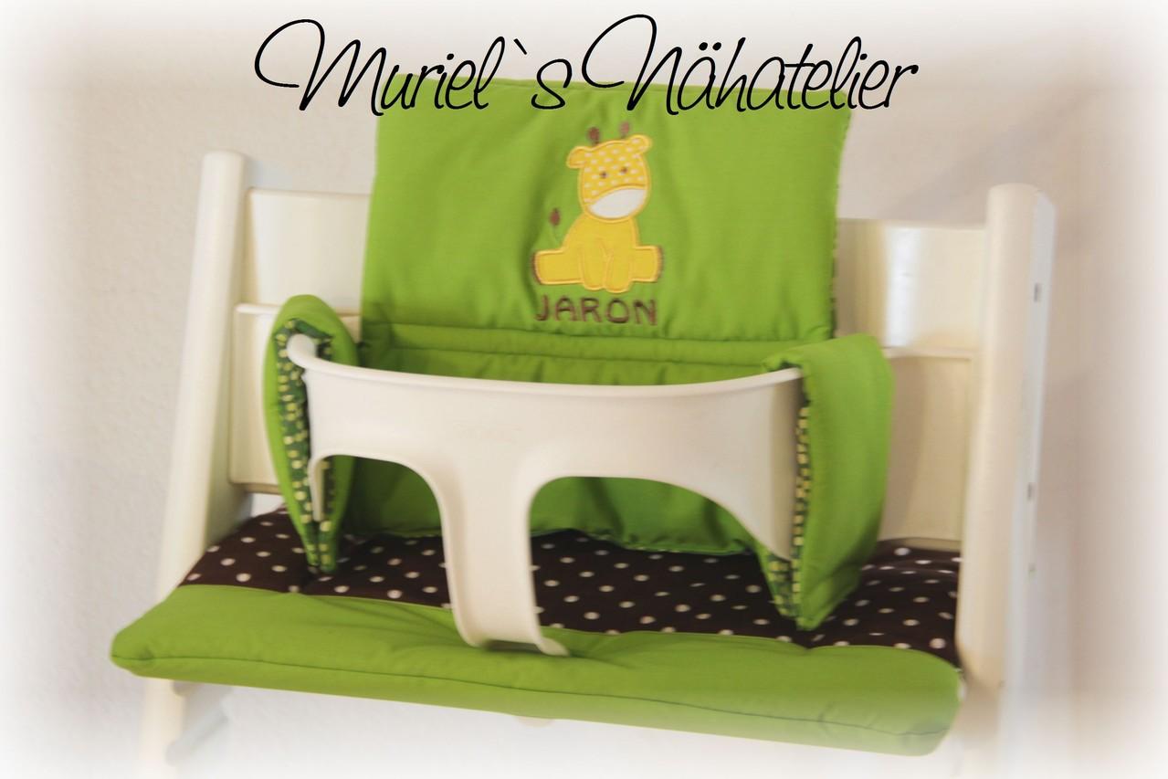 tripp trapp kissen giraffenbaby muriels n hatelier. Black Bedroom Furniture Sets. Home Design Ideas