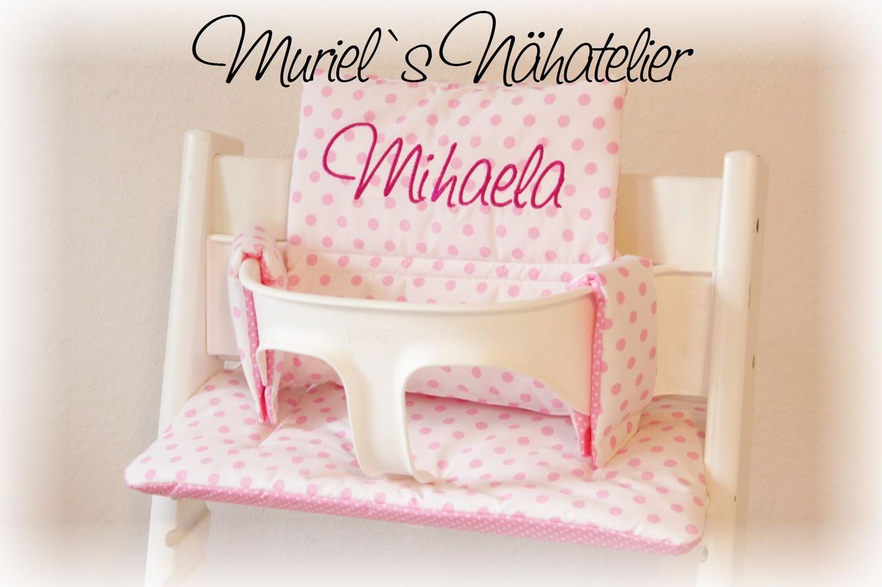 tripp trapp kissen nur name muriels n hatelier. Black Bedroom Furniture Sets. Home Design Ideas