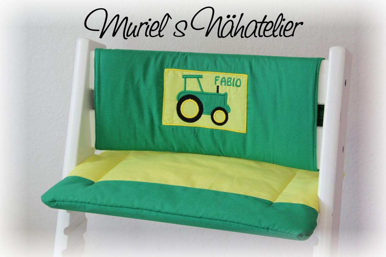 tripp trapp kissen traktor muriels n hatelier. Black Bedroom Furniture Sets. Home Design Ideas