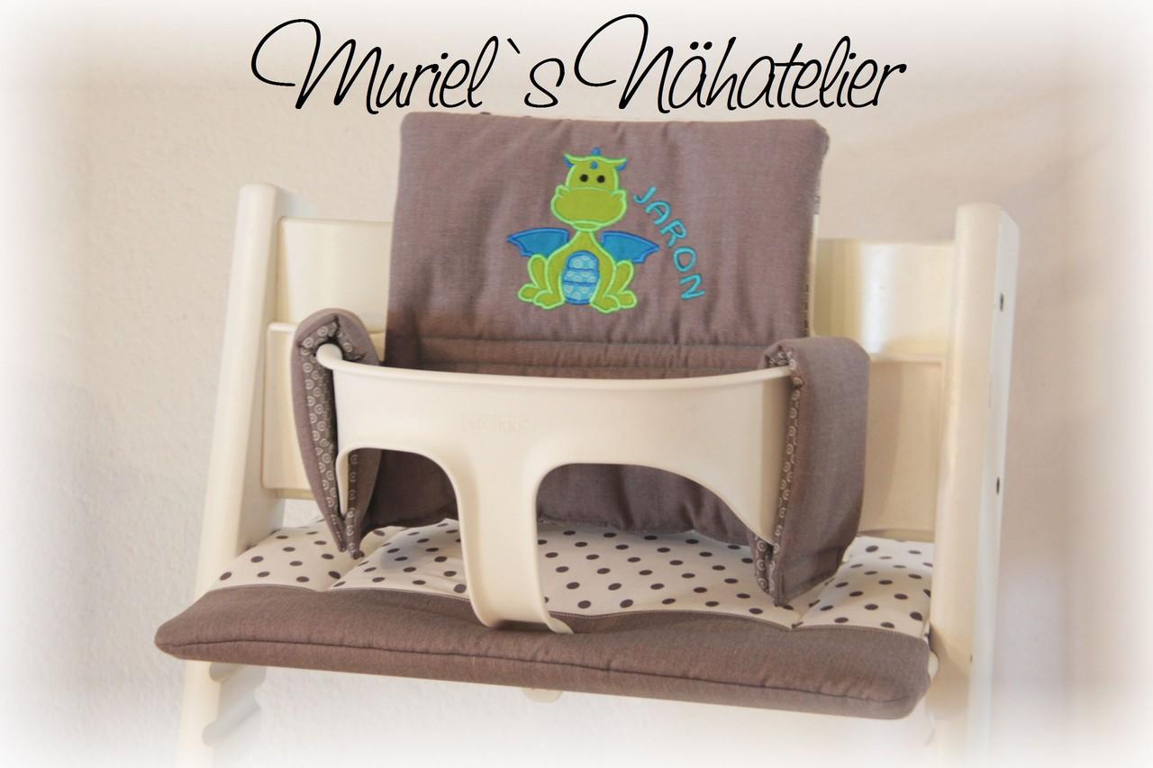 tripp trapp kissen drachenbaby muriels n hatelier. Black Bedroom Furniture Sets. Home Design Ideas