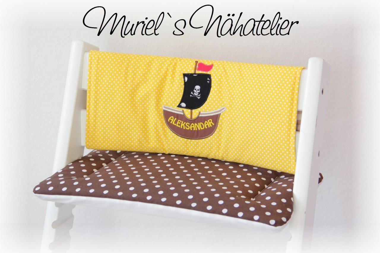 tripp trapp kissen f r piraten muriels n hatelier. Black Bedroom Furniture Sets. Home Design Ideas