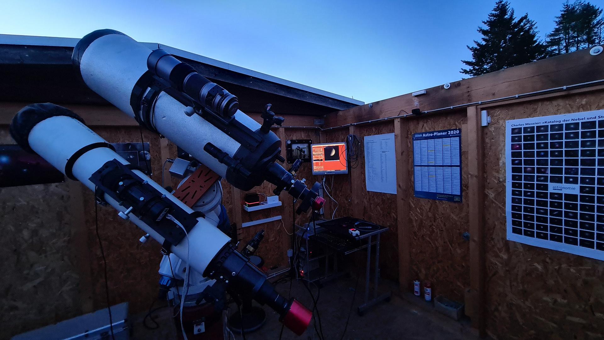 Setup während hochauflösender Venus-Aufnahme