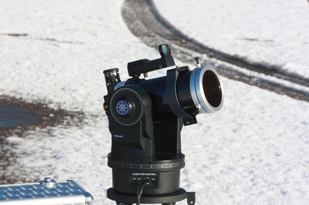 Meade ETX-90 PE bei Sonnenbeobachtung