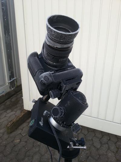 iOptron Skytracker mit Canon EOS 450Da nach einer kalten Nacht