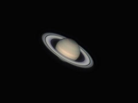 Saturn am 29.05.2014. Celestron C9.25 auf WS240GT, ASI120MM , Zeiss Abbe Barlow, F=5400mm, f/22, R-RGB
