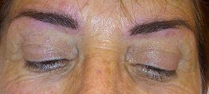 Maquillage permanent sourcils après