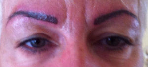 Maquillage permanent aprés