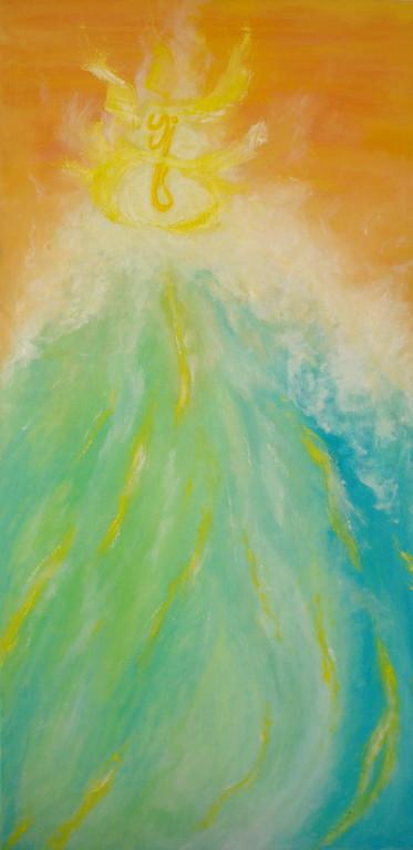 l'eveil - huile sur toile 50x100