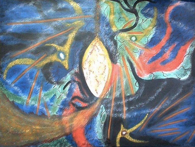 Genèse - 80 x60 pastels secs  collection privée