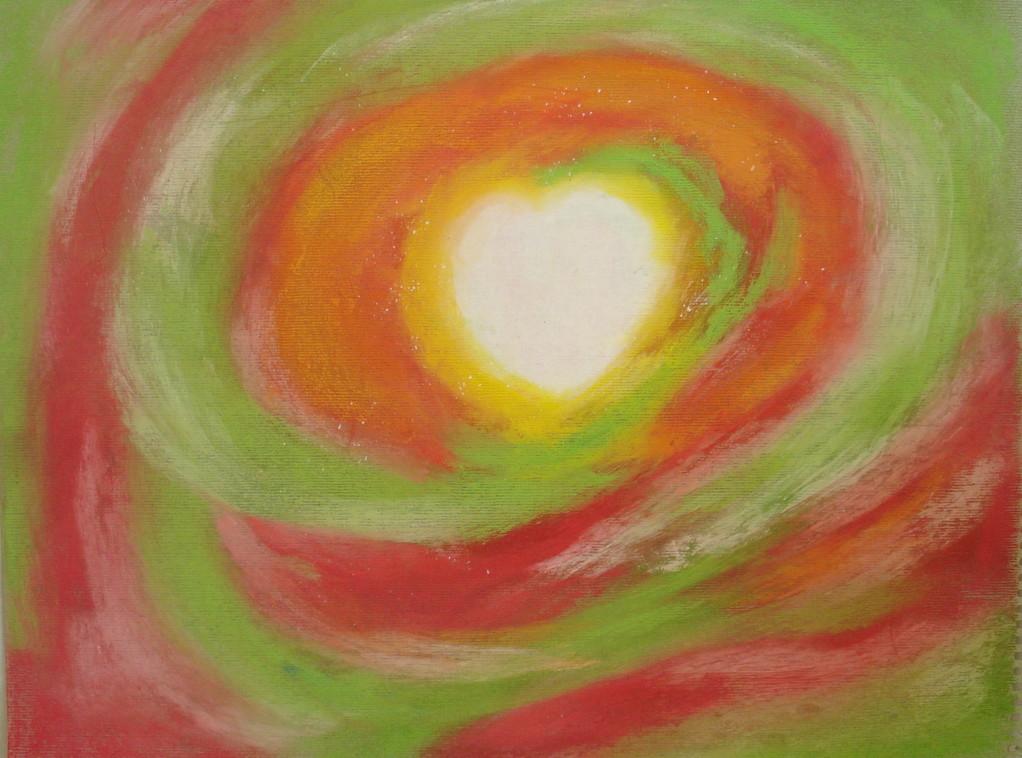 La grande Etoile - 30x39 pastels secs sur papier -