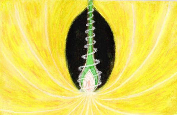 Aura - 110 x 70 pastels secs -