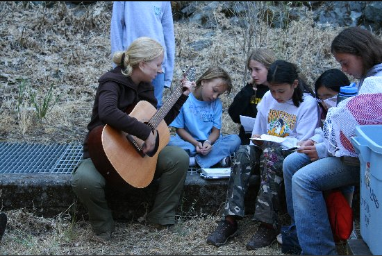 playing a song with my campers. Photo by: Beth Hewitt
