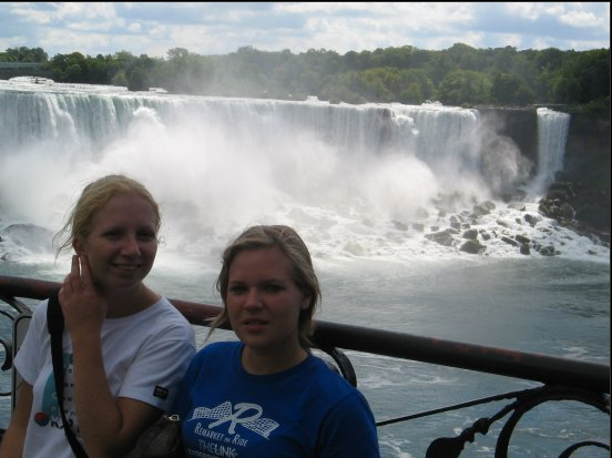 with my friend Hanna at Canadian side of Niagara Falls