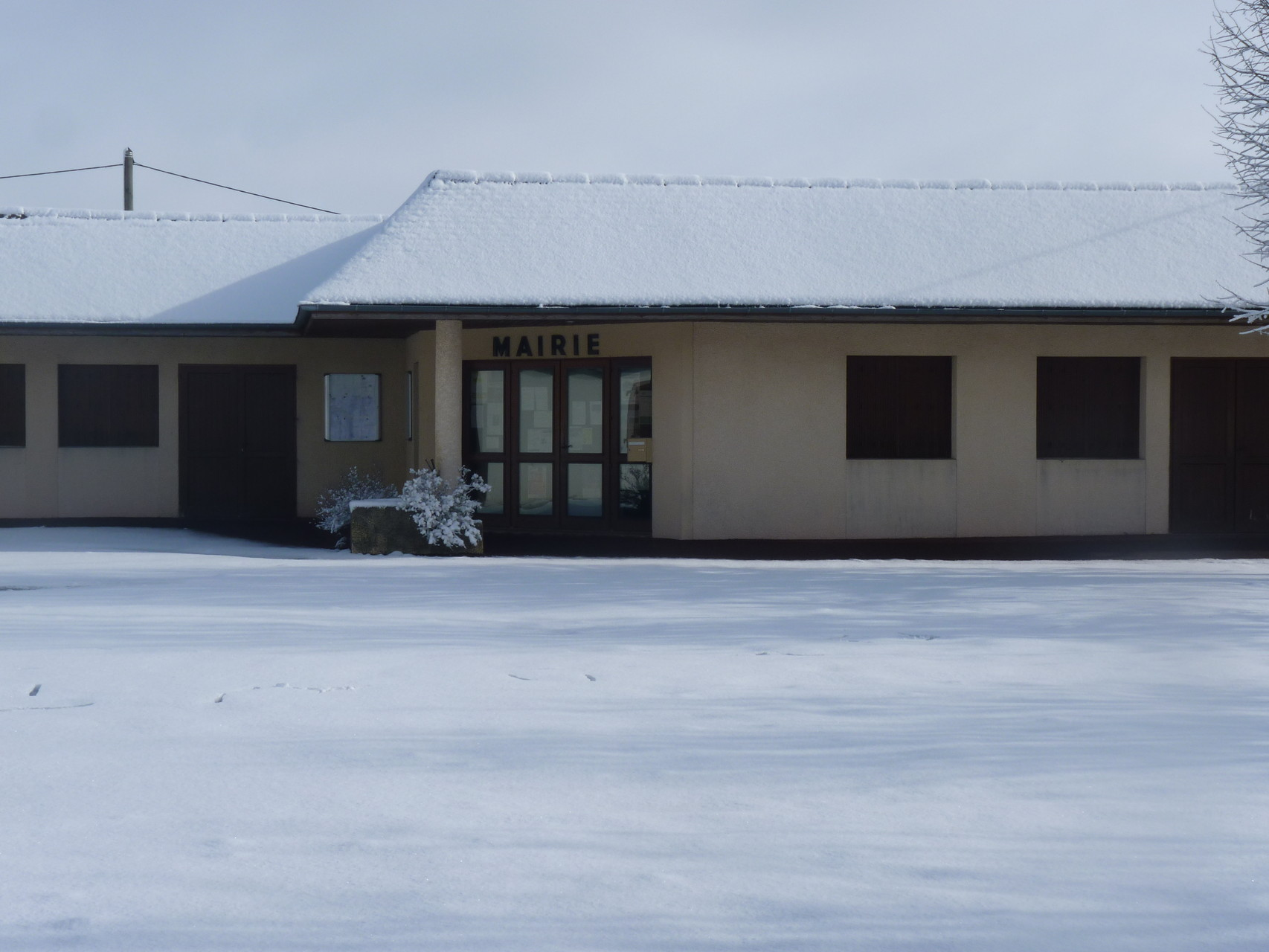 Mairie de Garlède sous la neige février 2015