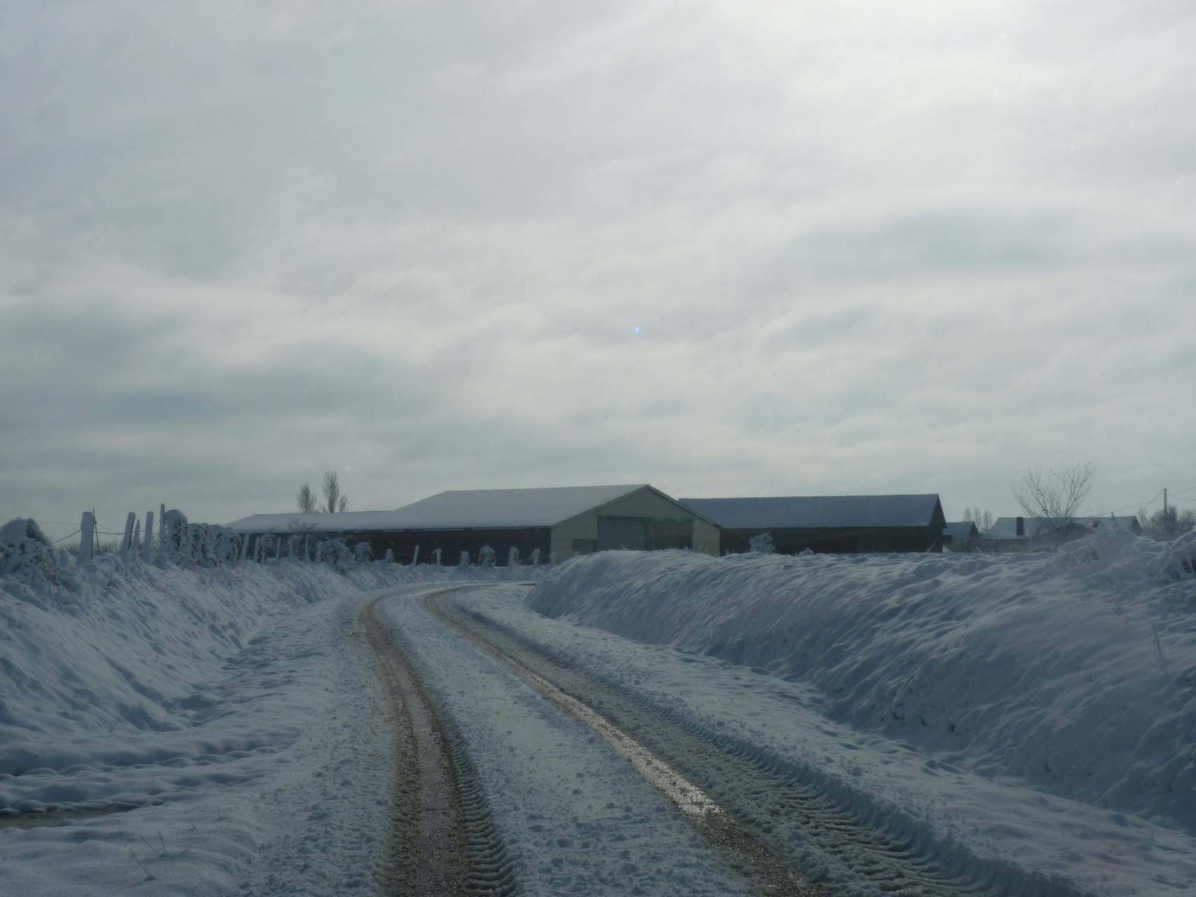 Garlède-Mondebat par temps de neige fév. 2015