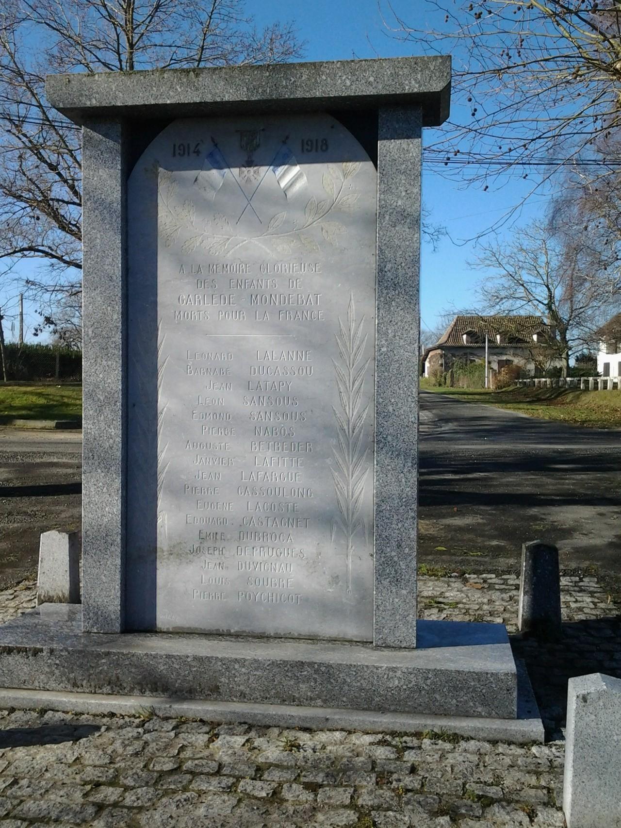 Monuments au morts