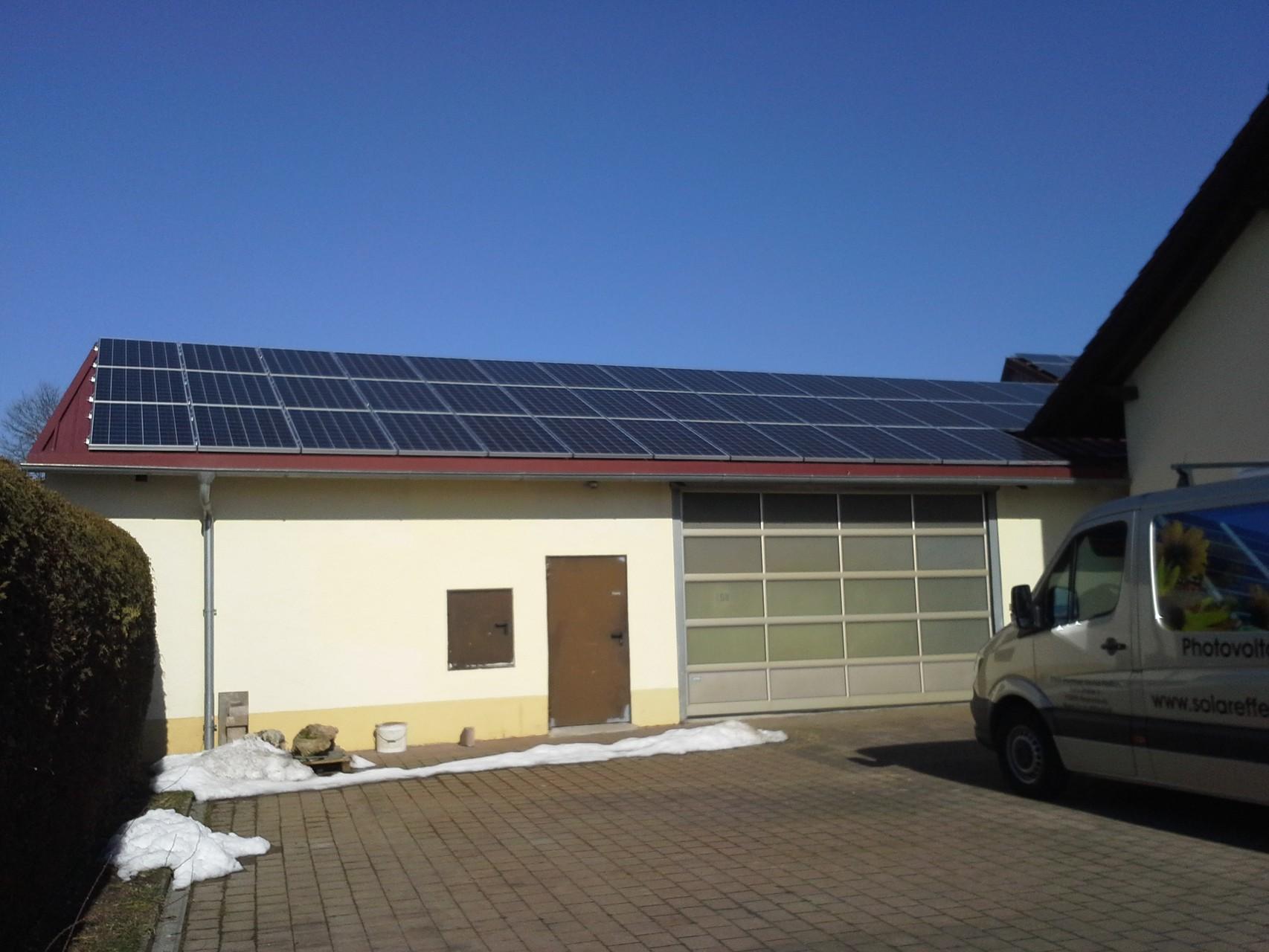 13,5 kWp Photovoltaikanlage 92345 Dietfurt a.d.Altmühl SHARP Modulen 15.0 Symo Fronius Wechselrichter