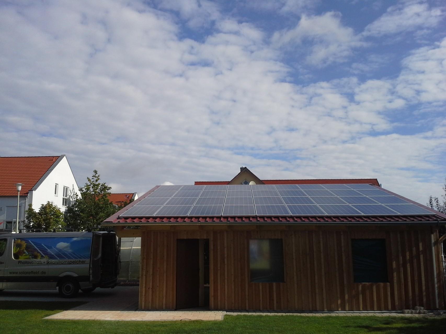 Phototovoltaikanlage 9,18 kWp in 93176 Beratzhausen mit Solarwatt Glas/Glas Module 30 Jahre Garantie