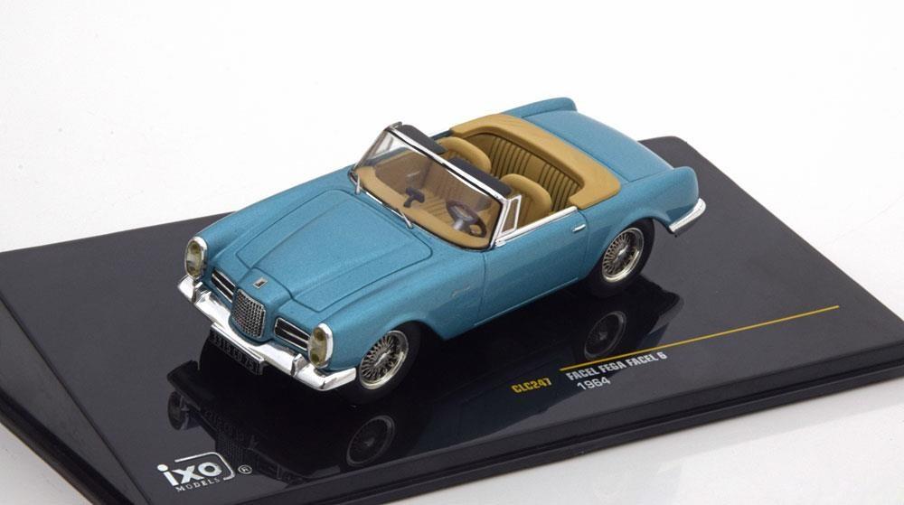 Die-cast Facel Vega Facellia silber 1962 1:43 Solido Modellauto