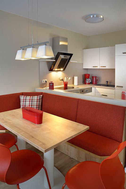 Innenaufnahme, Interieur einer Musterwohnung für die Wohnungsbaugenossenschaft Ilmenau e.G.