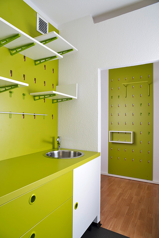 Innenaufnahme, Interieur, Flötotto, Musterwohnung, Studenten WG für die Wohnungsbaugenossenschaft Ilmenau e.G.
