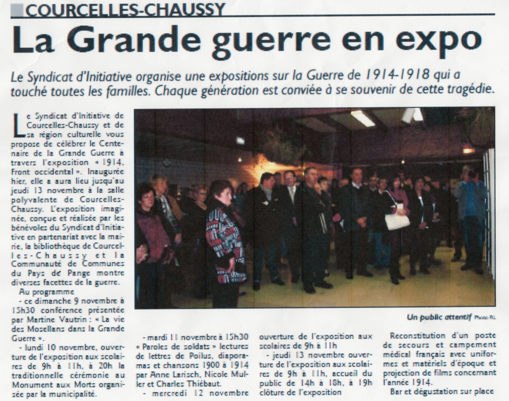 "Exposition ""1914, Front occidental"", novembre 2014"