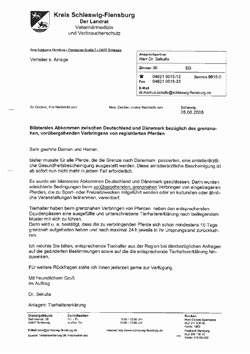 Tiertransport-Formular für Dänemark