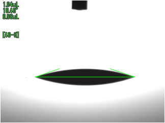 ABS接触角(UV照射後)