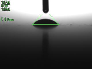 着液1/60秒後の接液画像 MCナイロン