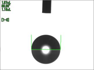 水の接触角(UV照射前)ポリカ