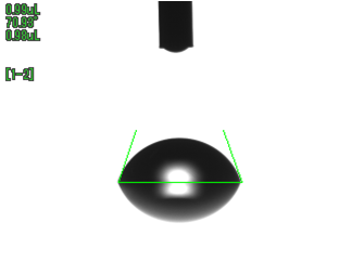 水の接触角(UV照射前)SUS304