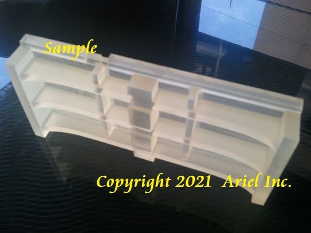 筐体カバー試作、アクリル樹脂(半透明)積層ピッチ16μm