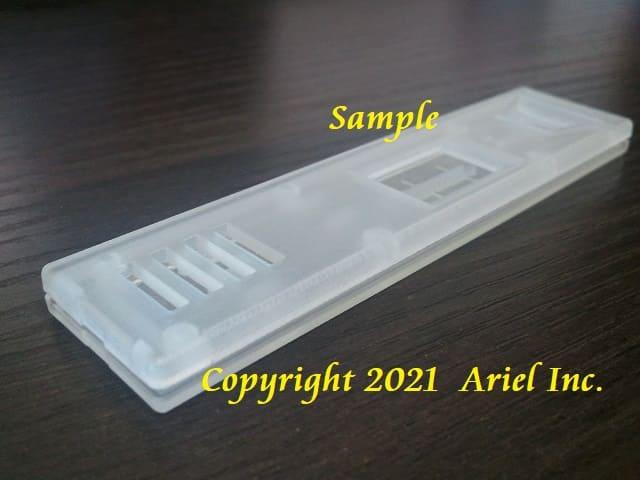 ハウジング試作、アクリル樹脂(半透明)積層ピッチ16μm