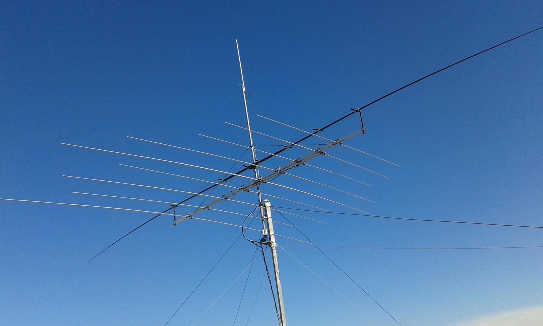Linear Loaded 40m Dipole - IW7DMH - Ham Radio Station