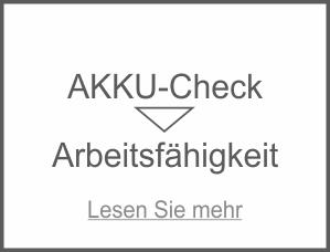 Akku-Check zur Arbeitsfähigkeit