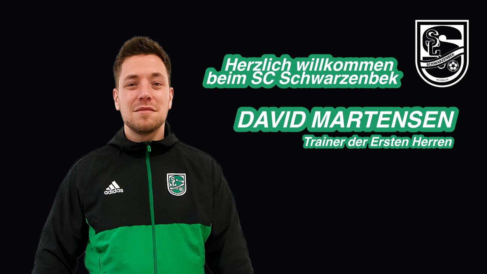 David Martensen wird neuer Trainer der Ersten Herren